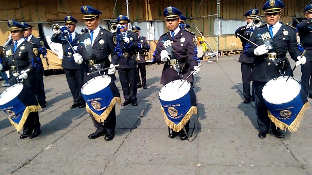 La policía también tiene su banda, pero musical